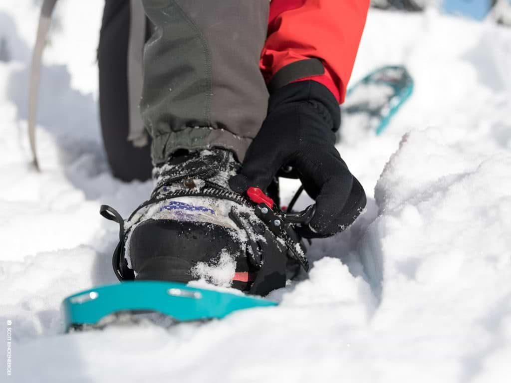 fixation raquette a neige