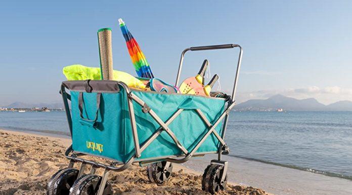 chariot de plage pliable pliant