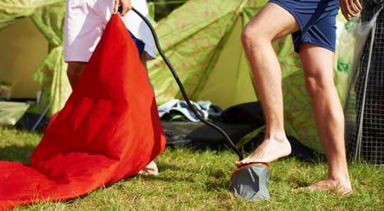 gonfler matelas camping gonflable