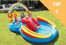 piscine gonflable avec toboggan aire de jeux