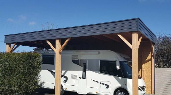 abri carport camping car