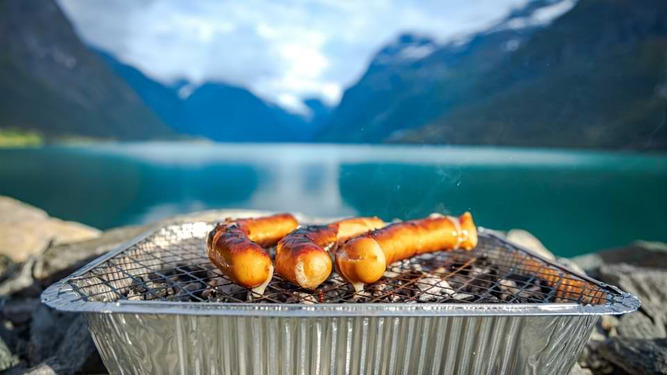 barbecue à usage unique jetable