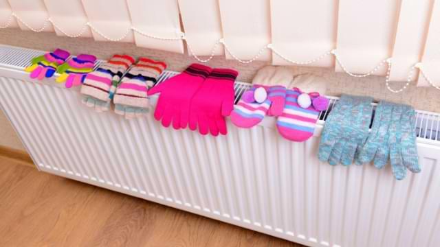 séchage gants moufles