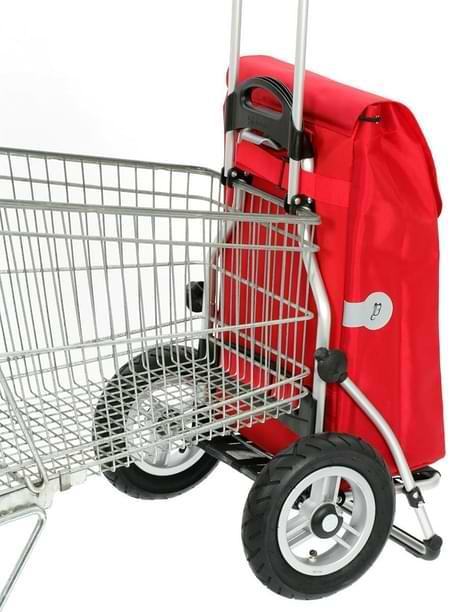 chariot course sur caddie supermarché
