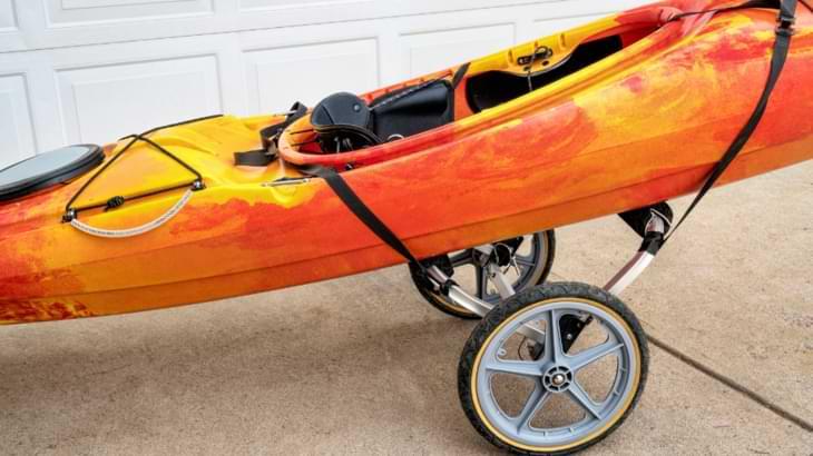 chariot kayak grosse roue