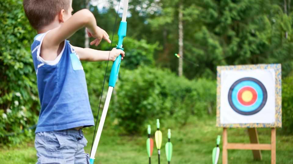 jeux tir à l'arc enfant