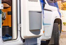 poubelle camping car de porte