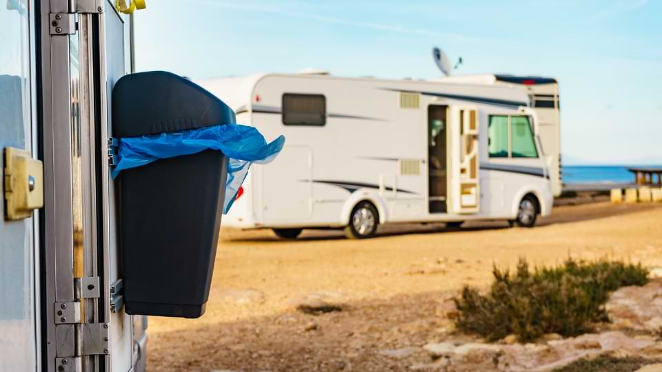 poubelle camping car