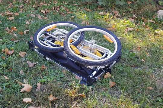 chariot de randonnée à pied pliable