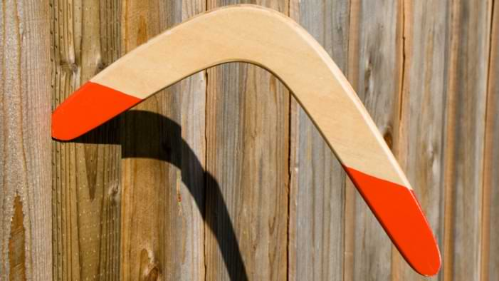 forme taille boomerang