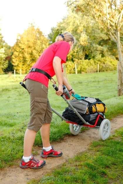 poids charge chariot de randonnée