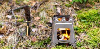 mini poêle à bois portable pliant